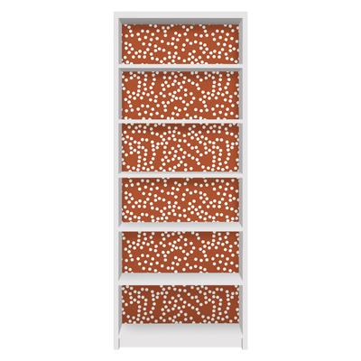 Möbelfolie für IKEA Billy Regal - Klebefolie Aborigine Punktmuster Braun