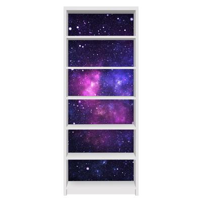 Möbelfolie für IKEA Billy Regal - Klebefolie Galaxie