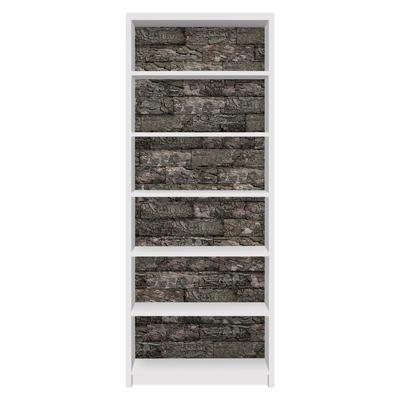 Möbelfolie für IKEA Billy Regal - Klebefolie Kastanienrinde