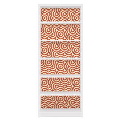 Möbelfolie für IKEA Billy Regal - Klebefolie Abstrakte Ethno Textur