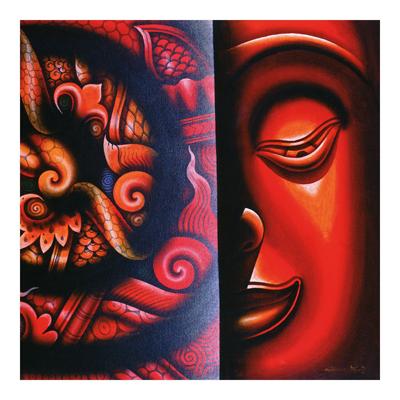 Vliestapete - Inside Buddhas Mind - Fototapete Quadrat