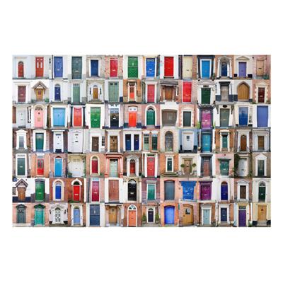 Aluminium Print - Wandbild 100 Türen - Quer 2 3